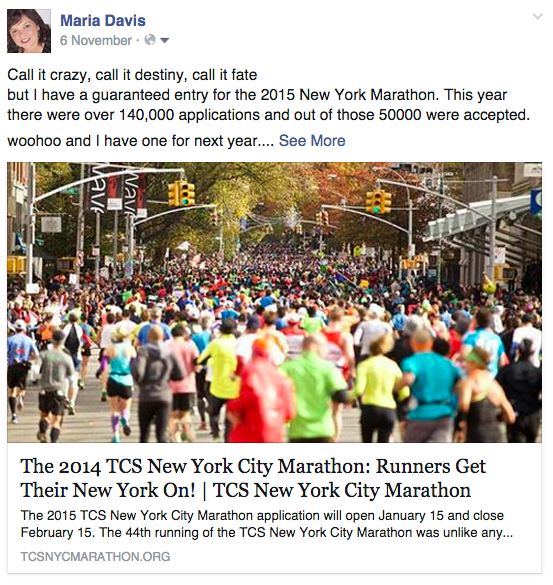 new york marathon facebook post